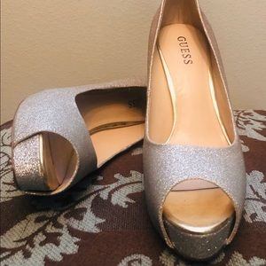 Guess Gold Sparkly Heels